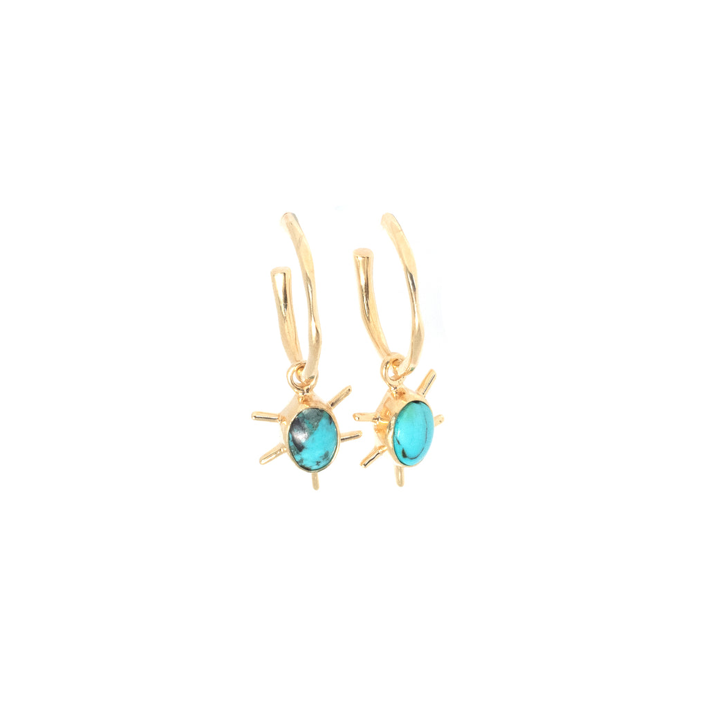 Charm - Turquoise star - Anna Design Jewellery