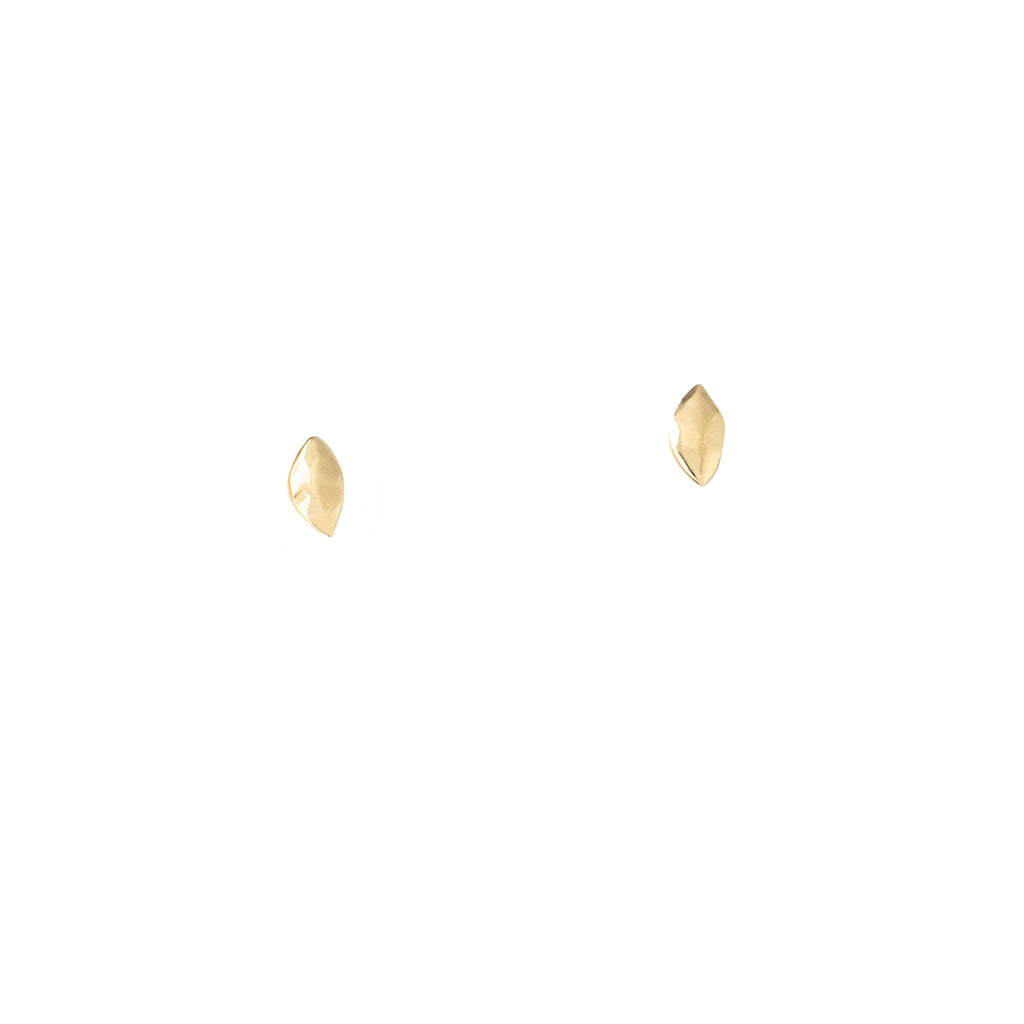 Petal Gold Studs - Anna Design Jewellery
