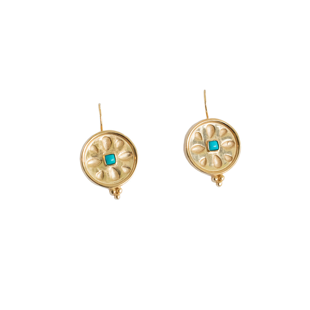 Celtic Gold Earrings - Anna Design Jewellery