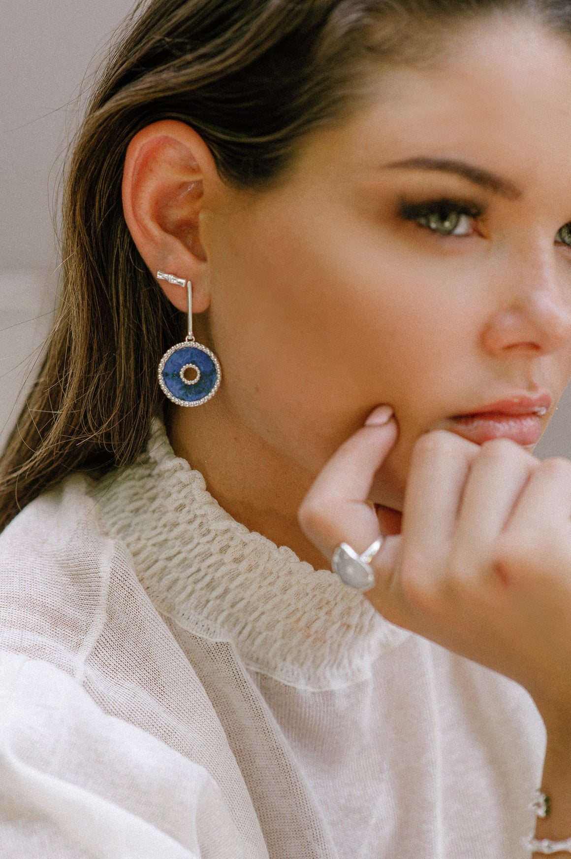 BAMBU COLLECTION - Amalfi Earrings Silver - Anna Design Jewellery
