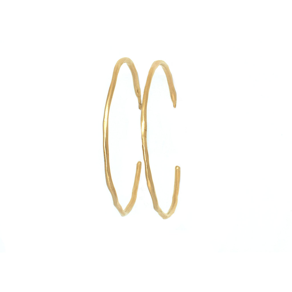 Hannah Gold Hoops - Anna Design Jewellery