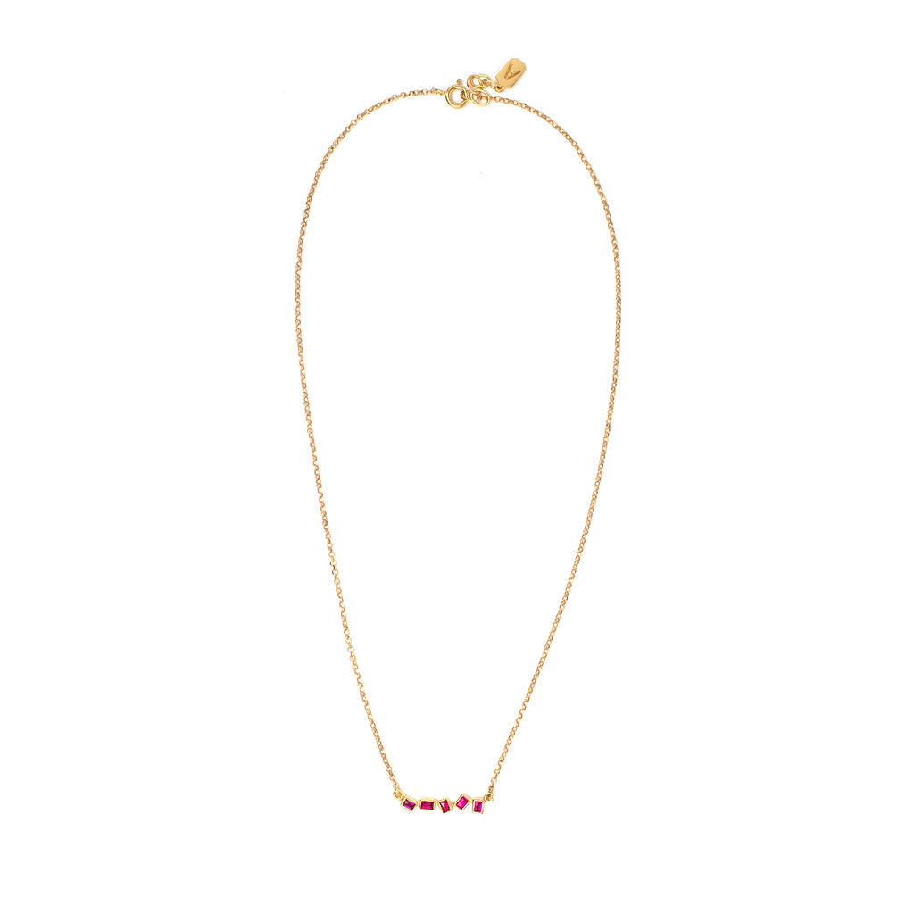 Zigzag Ruby Necklace - Anna Design Jewellery