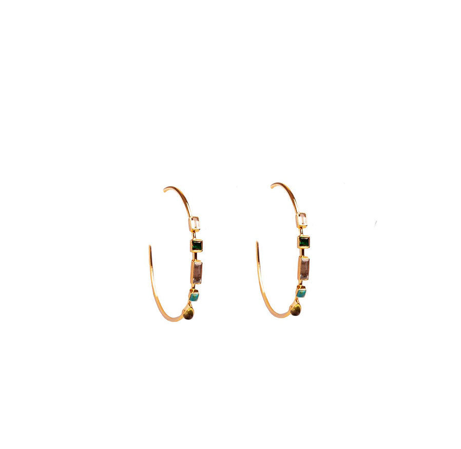 Emerald Hoops - Anna Design Jewellery