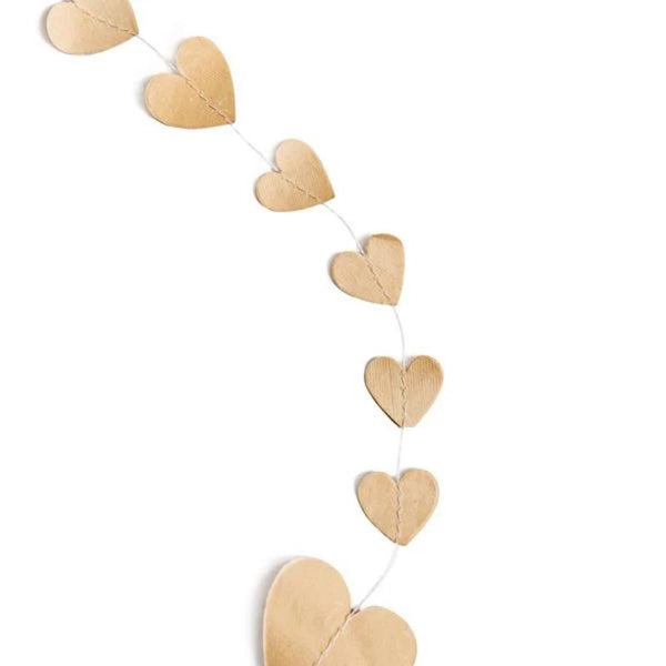 Beige Heart Garland- 27 Yards