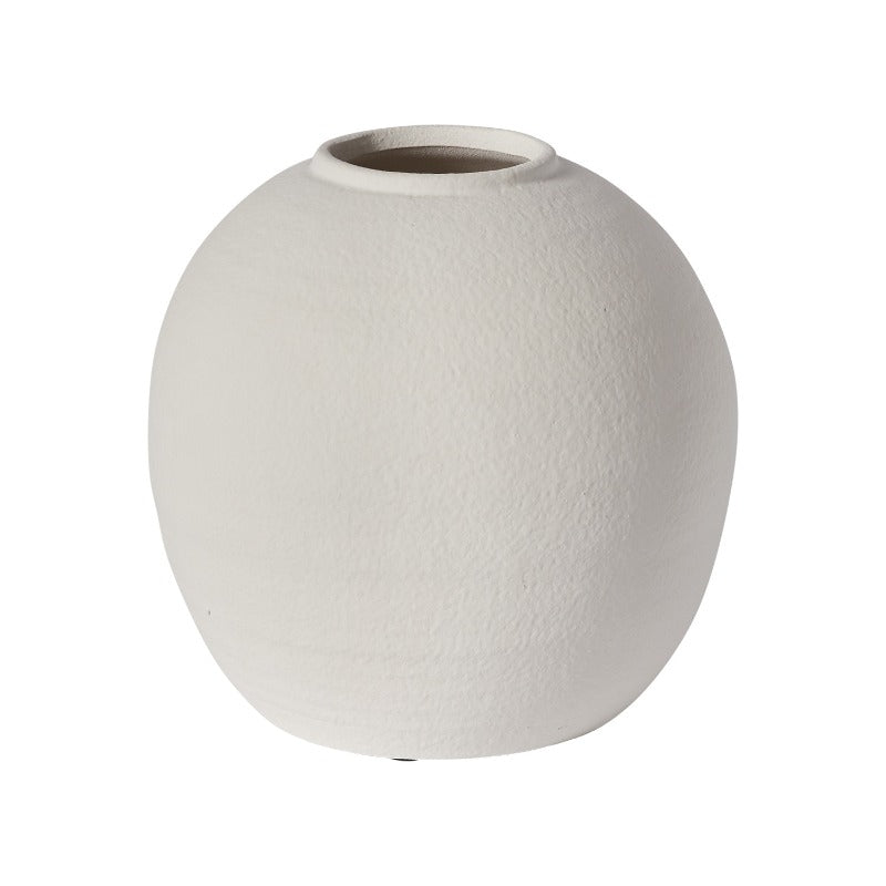 White Concrete Konos Vase (2 Sizes)