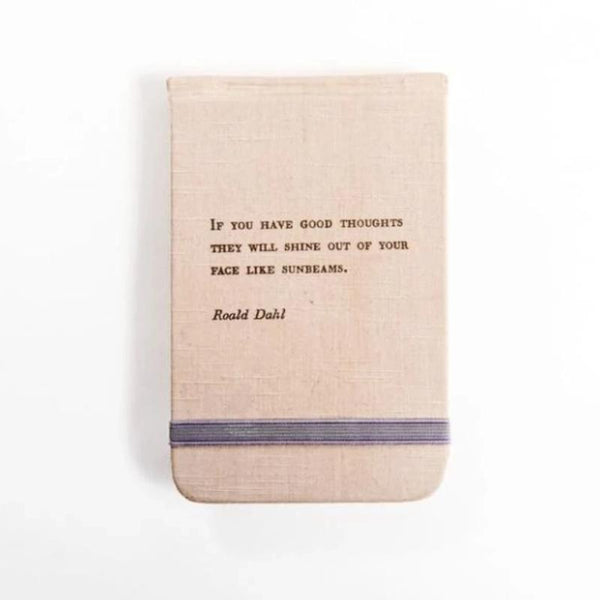 Sunbeams Fabric Journal Notebook- Ronald Dahl Quote