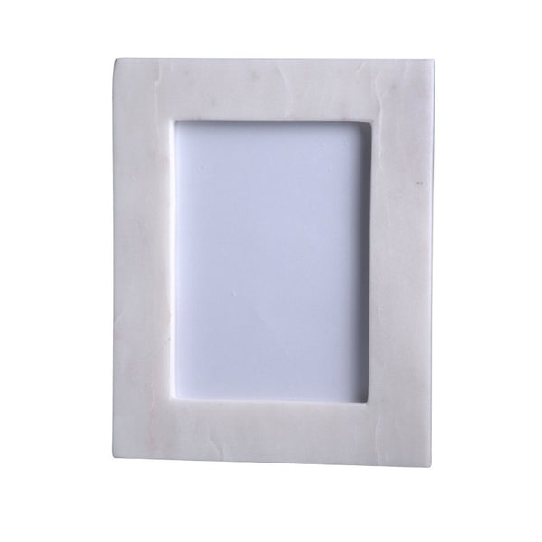 5x7 Solid White Marble Frame
