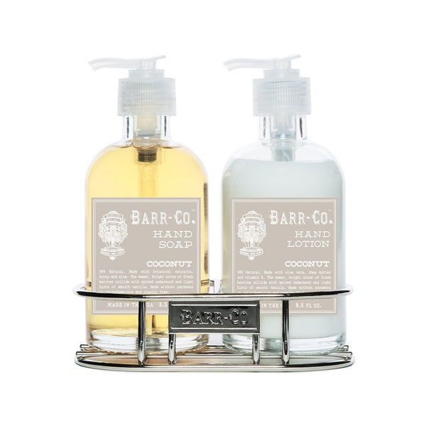 Barr-Co Coconut Soap & Lotion Caddy Set