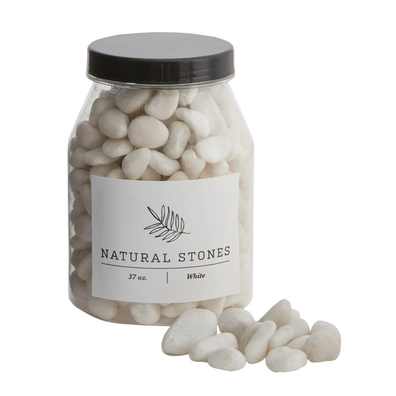 Jar of White Stones- 37oz