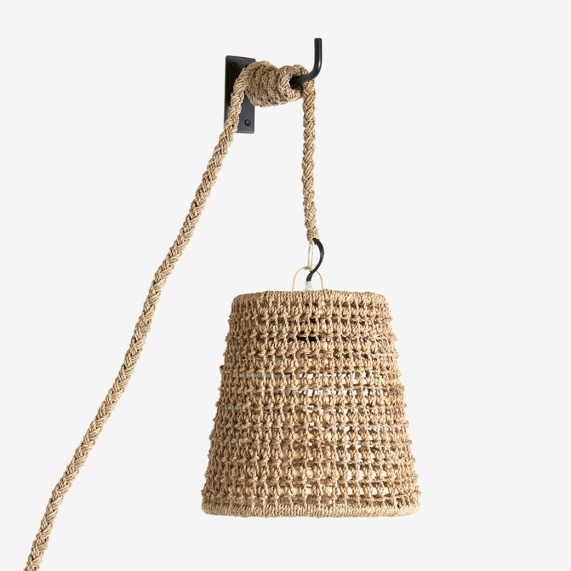 "Woven Seagrass Pendant Sconce-10"" x 10"" x 10""  DS Only"