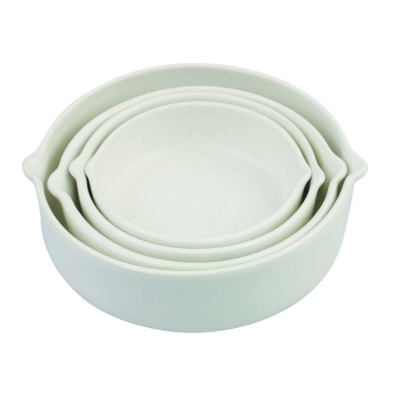 White Stoneware Measuring Cups (Set of 4)