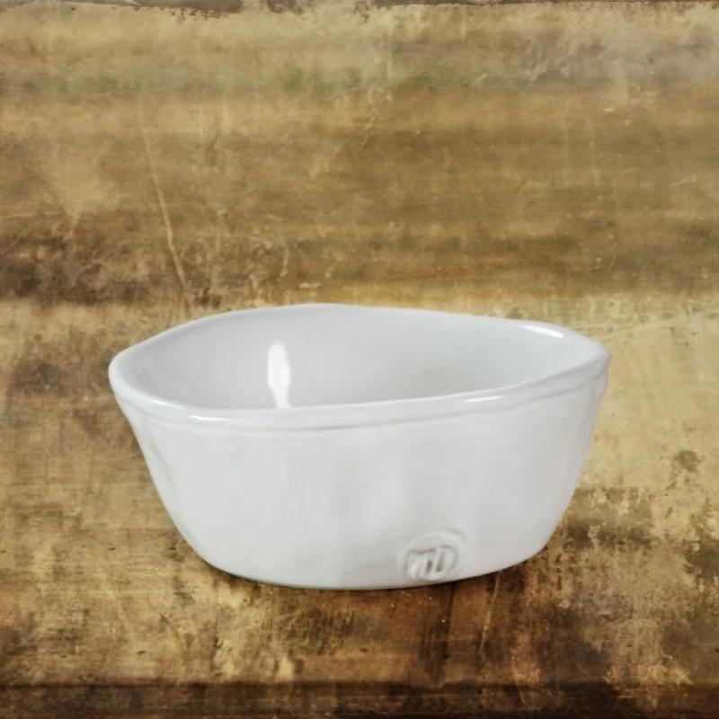 "White Stoneware Bowl No. 222- Montes Doggett- 4.25""D 1.75""H"