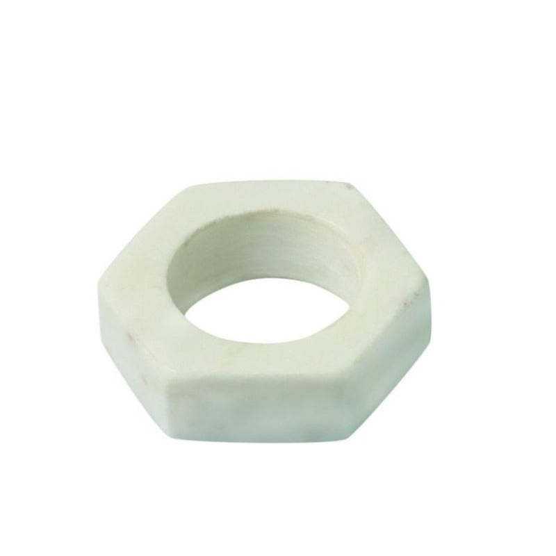 White Marble Hexagon Napkin Ring