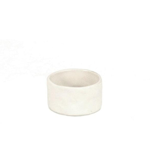 White Stoneware Napkin Ring