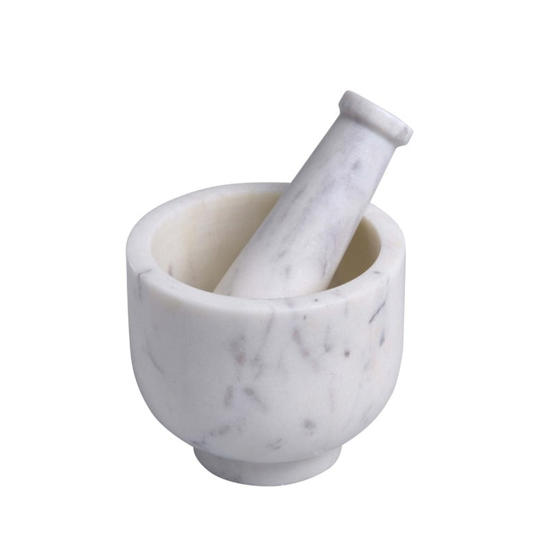 Small White Marble Mortar & Pestle