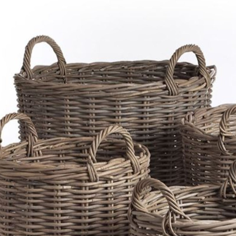 Normandy Gray Round Basket (4 Sizes)