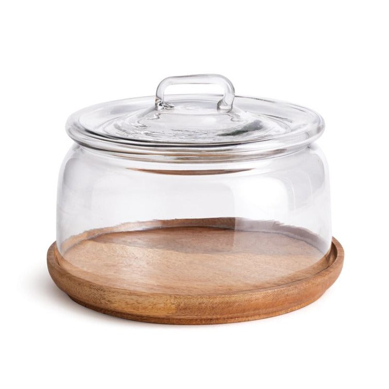 Wood Tray with Cloche
