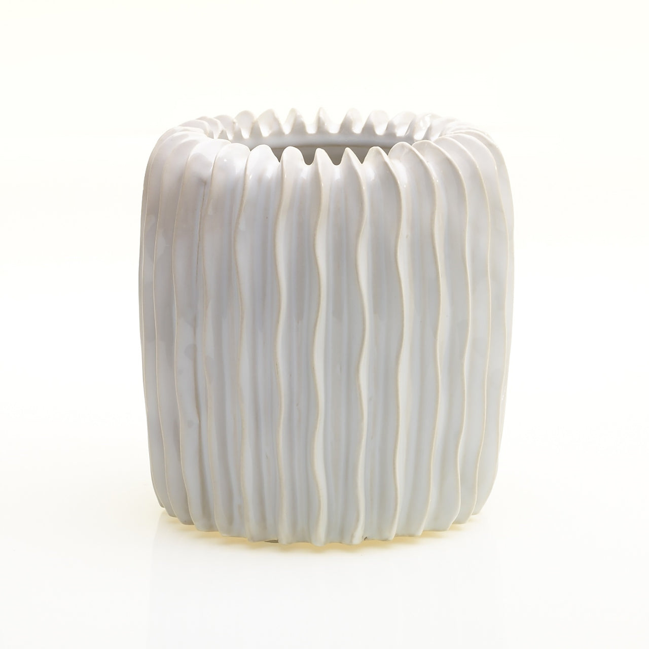 Haven Pleated Ceramic Vase