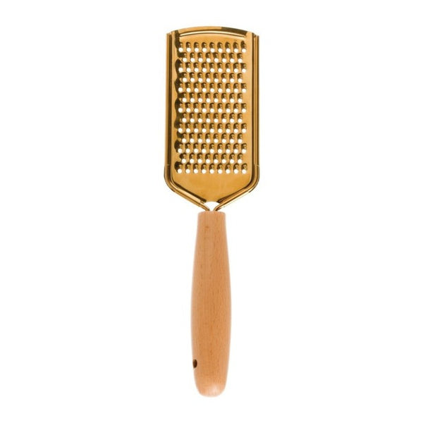 Gold Stainless Steel Grater with Wood Handle