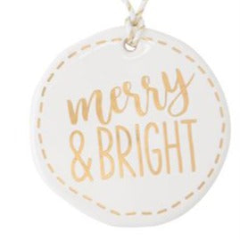 White & Gold Holiday Tag (6 Styles)