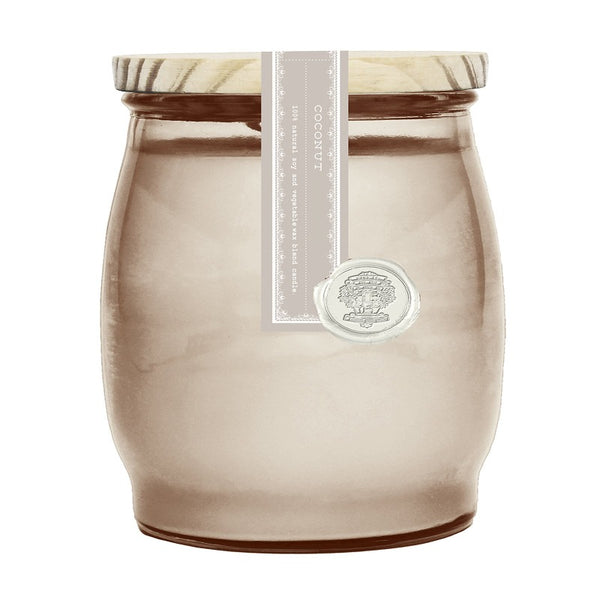 Barr-Co Coconut Barrel Glass Candle