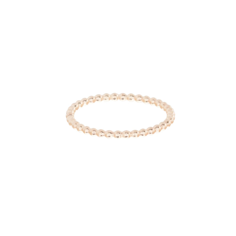 Classic Gold 1mm Bead Ring