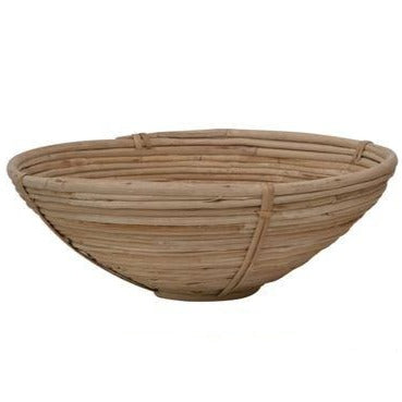 Round Hand-Woven Cane Bowl (3 Sizes)