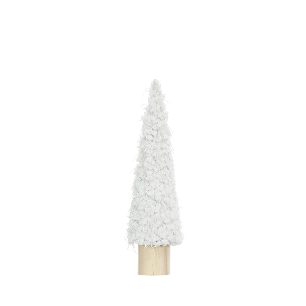 White Fabric Cone Tree (2 Sizes)