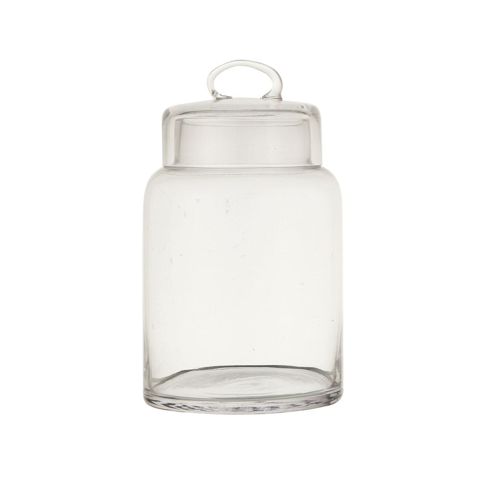 Clear Glass Canister with Lid (2 Sizes)