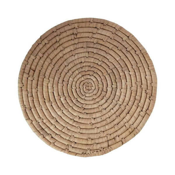"13.75"" Hand Woven Natural Grass Placemat"