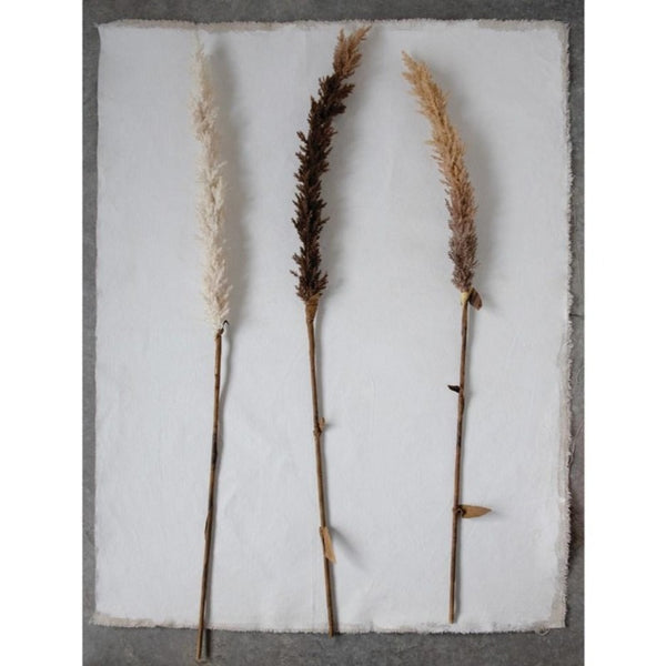 "42"" Faux Flocked Grass Plume (3 Colors)"