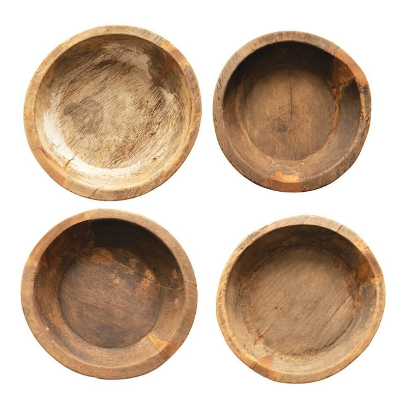 "20"" Natural Teak Wood Bowl"