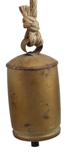 Gold Tin Bell with Hanger