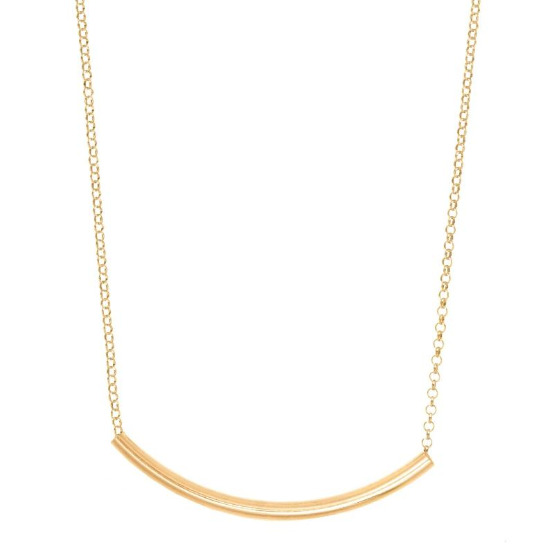"16"" Bliss Bar Gold Necklace"