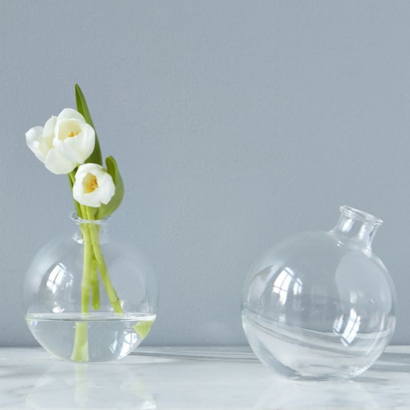 "5"" Sphere Glass Vase"