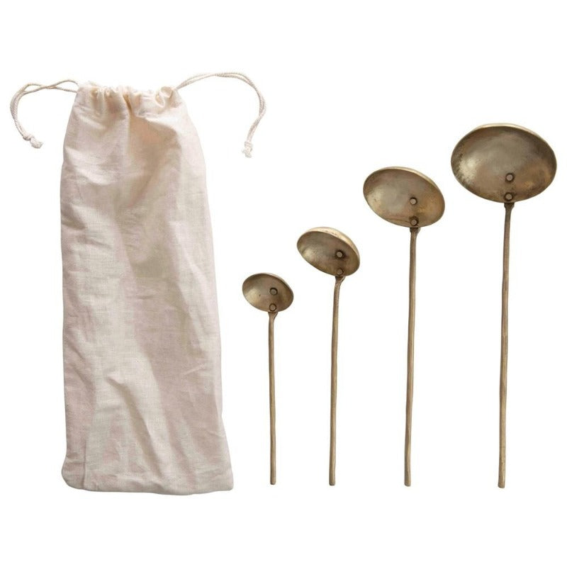 Brass Ladles - Set of 4 in Bag