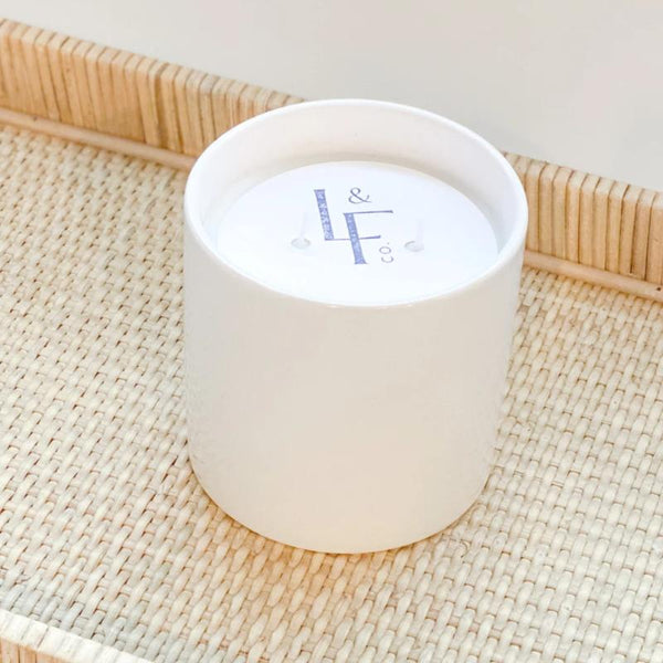 "L&F Signature Ceramic Candle- 4.25x4.25"" 20 oz"