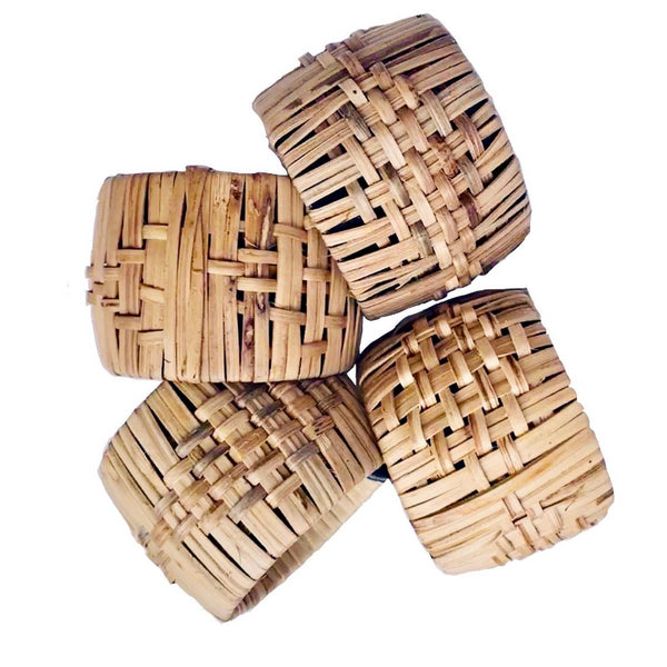 Woven Cane Napkin Rings-Set of 4