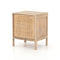 "Woven Cane Bedside Table- Right or Left 20.00""w x 16.00""d x 23.50""h"