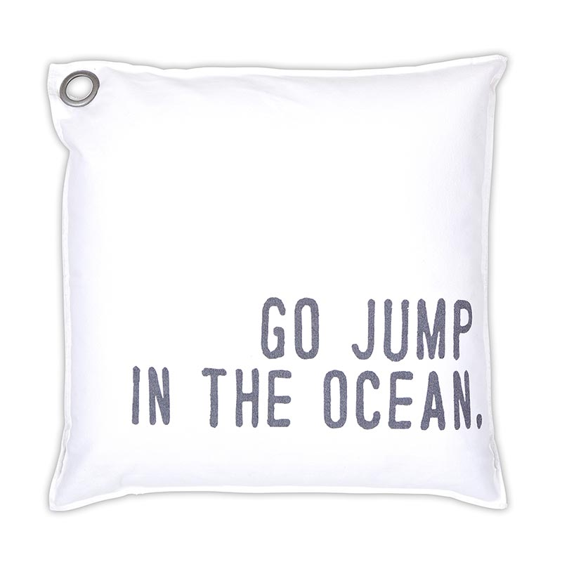 """Go Jump in the Ocean"" Pillow"