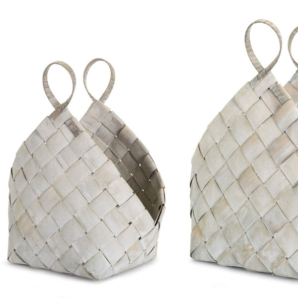 White Metasequoia Weaved Baskets (2 Sizes)