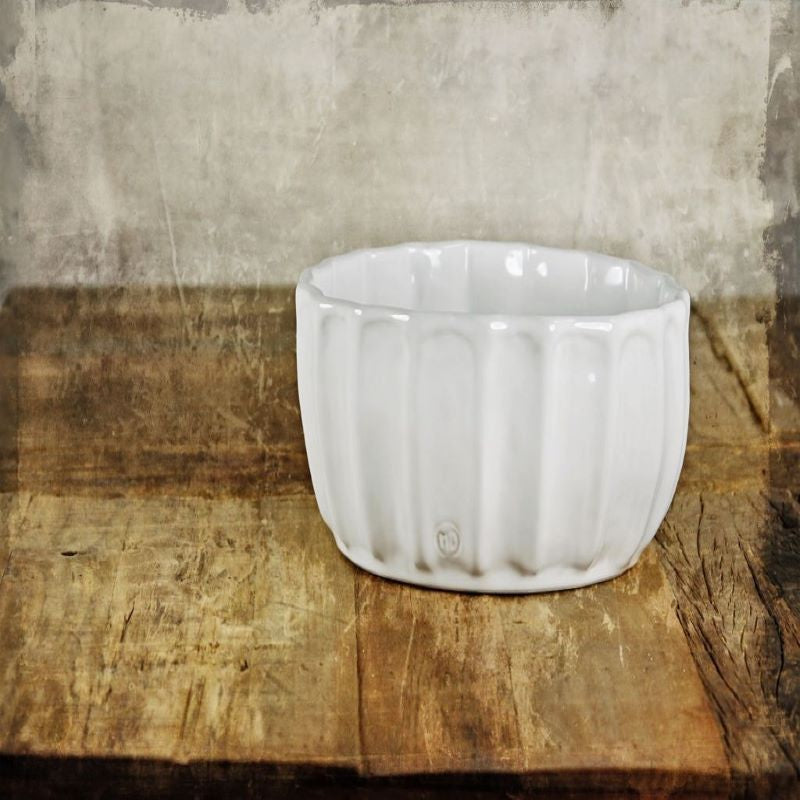 White Stoneware Bowl No. 131 - Montes Doggett
