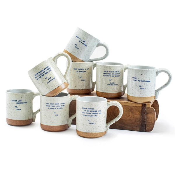 Speckled XO Mug- Assorted Sayings