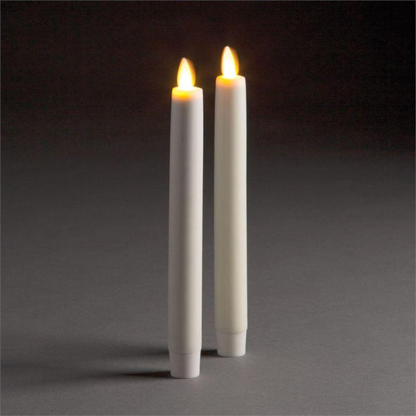 Moving Flame Taper Candle- 1x10.5""
