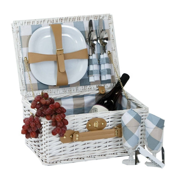 White Willow Boothbay Picnic Basket for 2