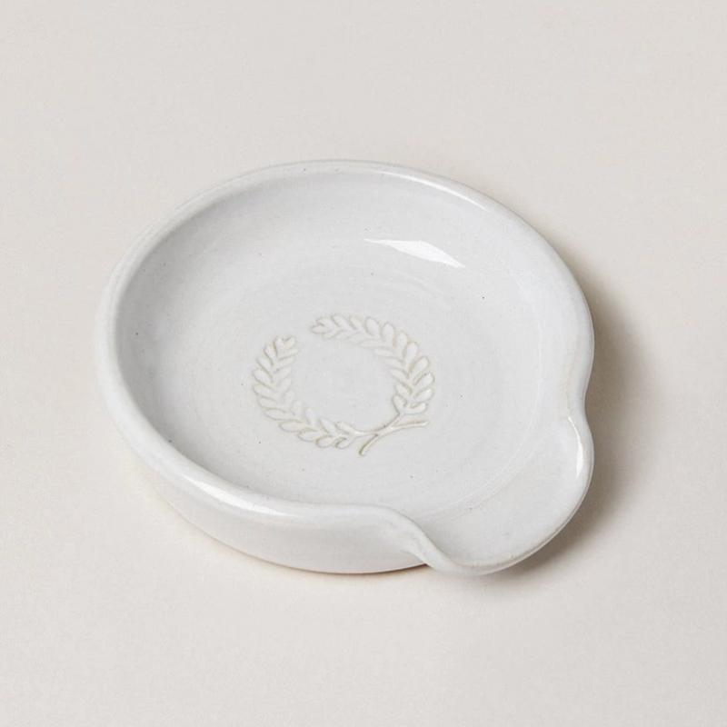 Laurel Spoon Rest by Farmhouse Pottery