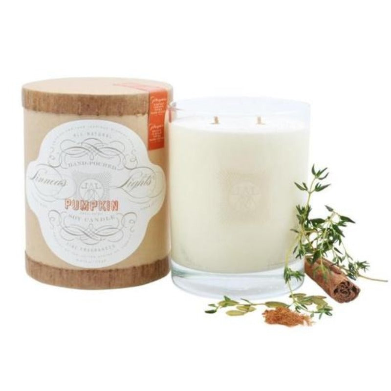 Linnea's Lights Double Wick Pumpkin Candle- 11 oz