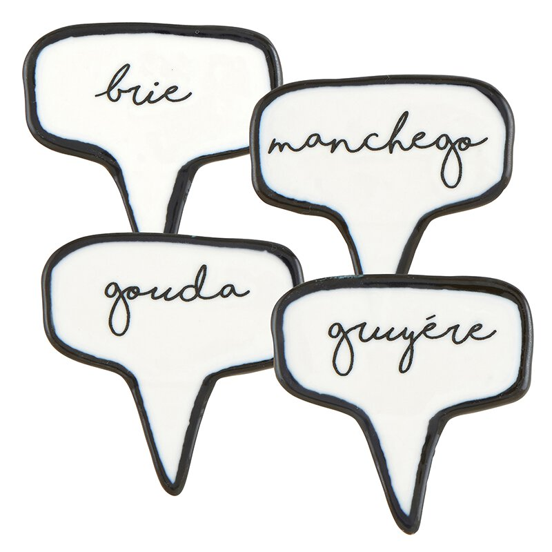 Ceramic Cheese Markers - Set of 4