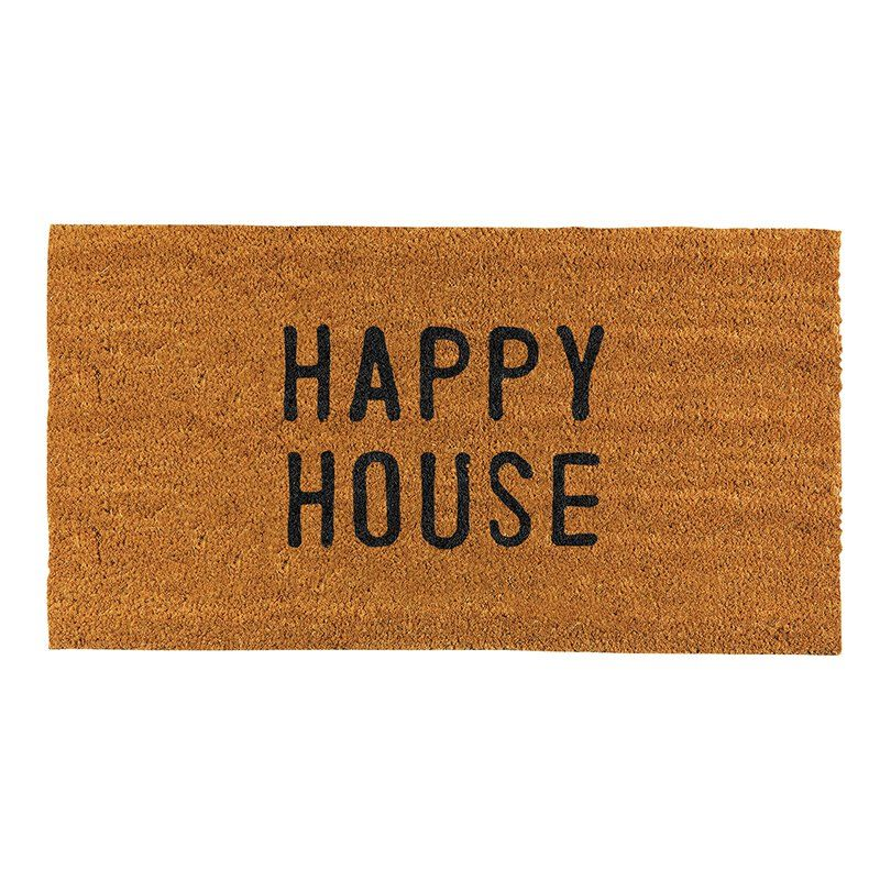 Happy House Door Mat