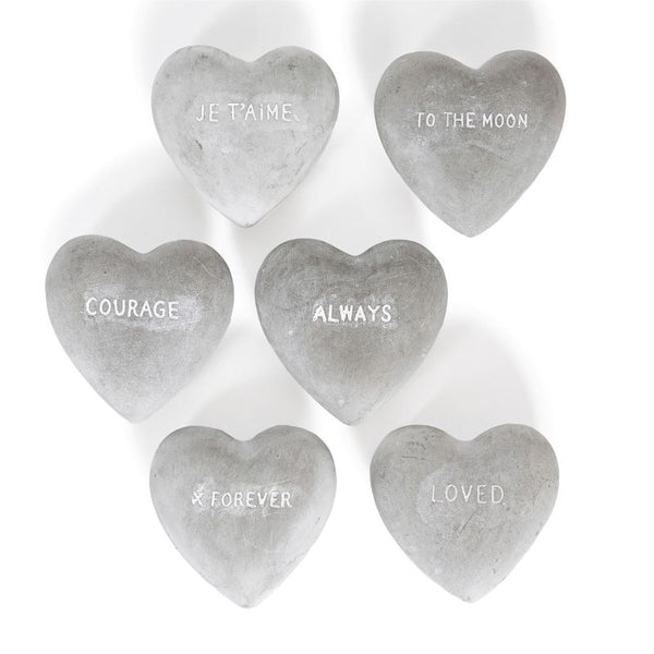 Stone Sentiment Heart (Assorted Designs)